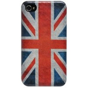 True-Carbon Vintage cover for iPhone 4 & 4S - union jack